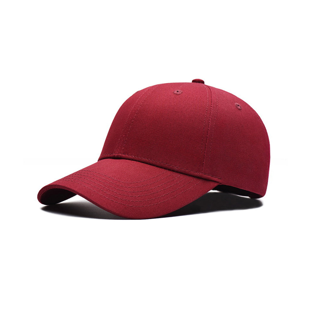 Burgundy Red Cotton Twill Baseball Cap