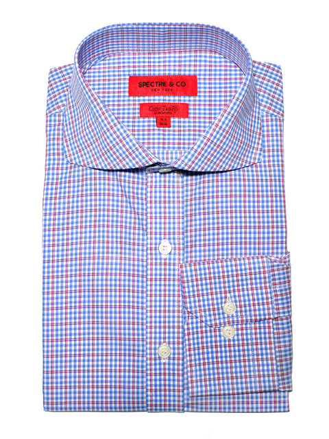 Slim Fit Charles Check Cutaway Dress Shirt