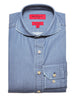 Slim Fit Denim Cutaway Spread Collar Dress Shirt