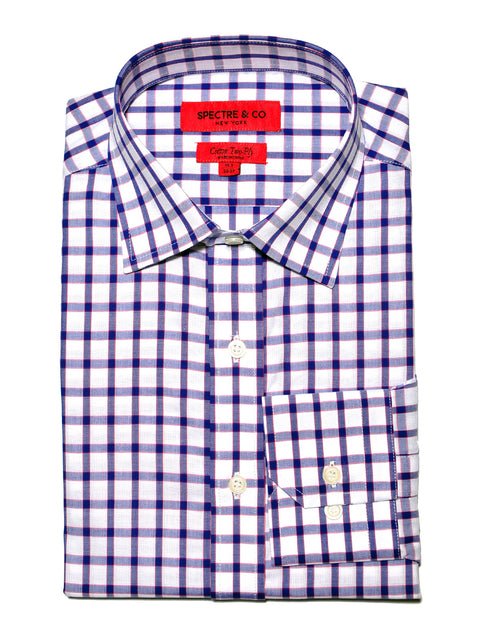Pattern Shirt - Ernest Check Semi-Spread Dress Shirt