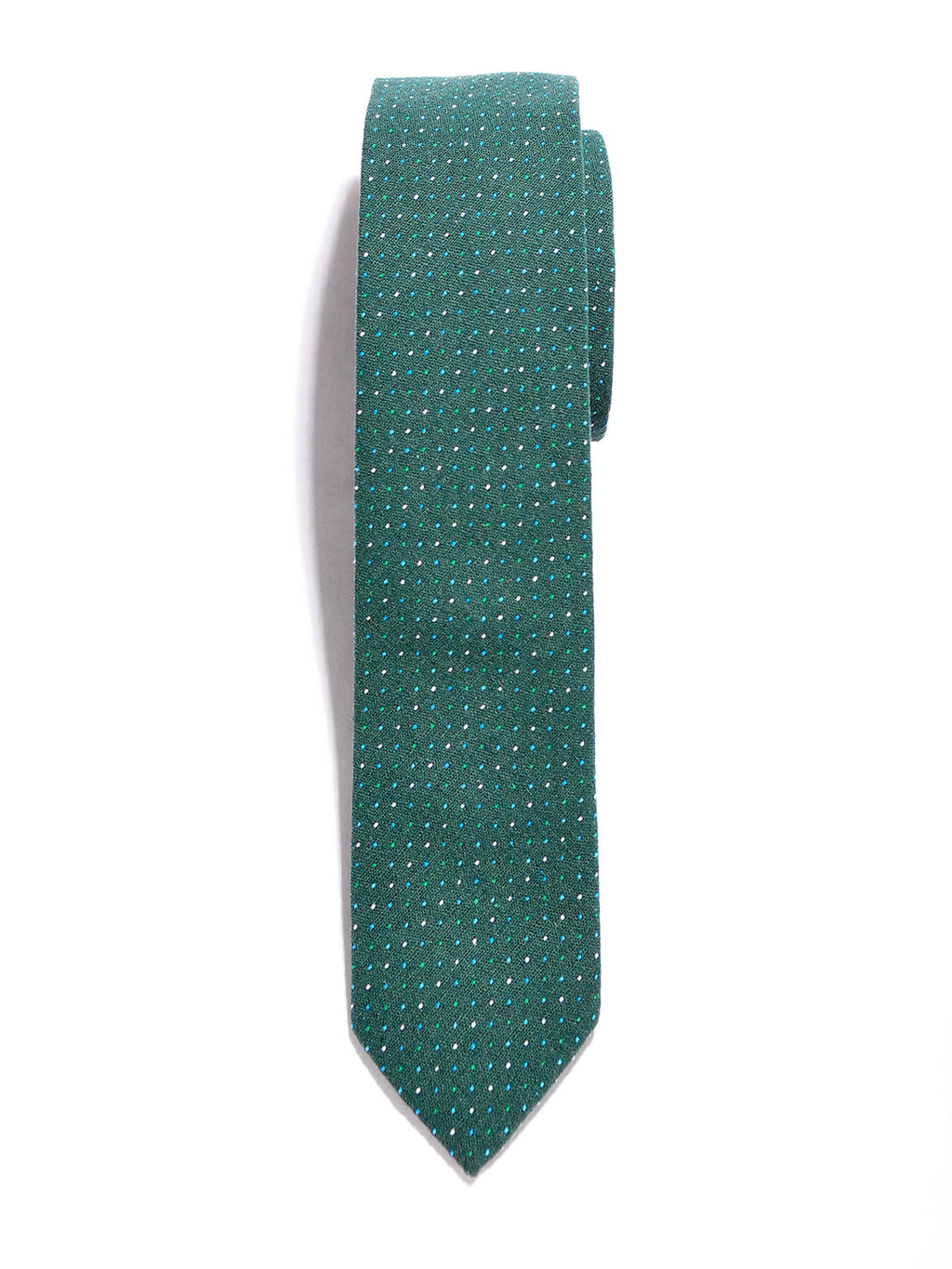Green Dot Cotton Tie