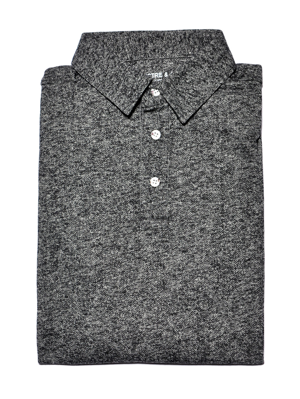 Grey Knit Polo
