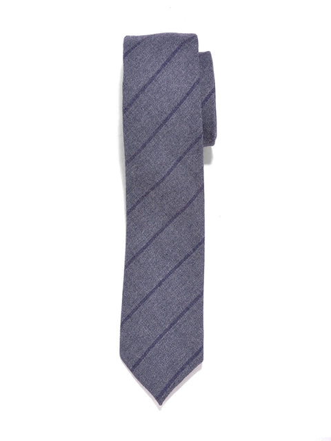Grey Stripe Cotton Tie