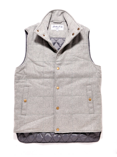 Grey Wool Bodywarmer Vest
