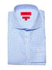 Slim Fit Light Blue Gingham Dress Shirt