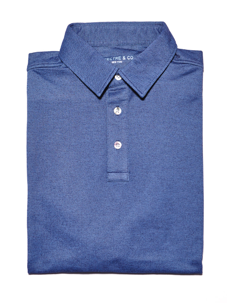 Light Blue Knit Polo