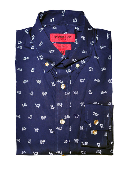 "The ""Milo"" Charity Cat Print Shirt"