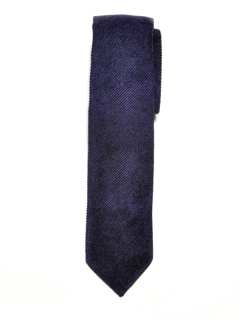 Navy Blue Corduroy Cotton Tie