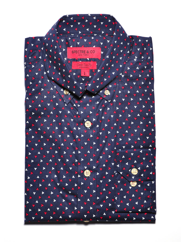 Navy Blue Puzzle Casual Shirt