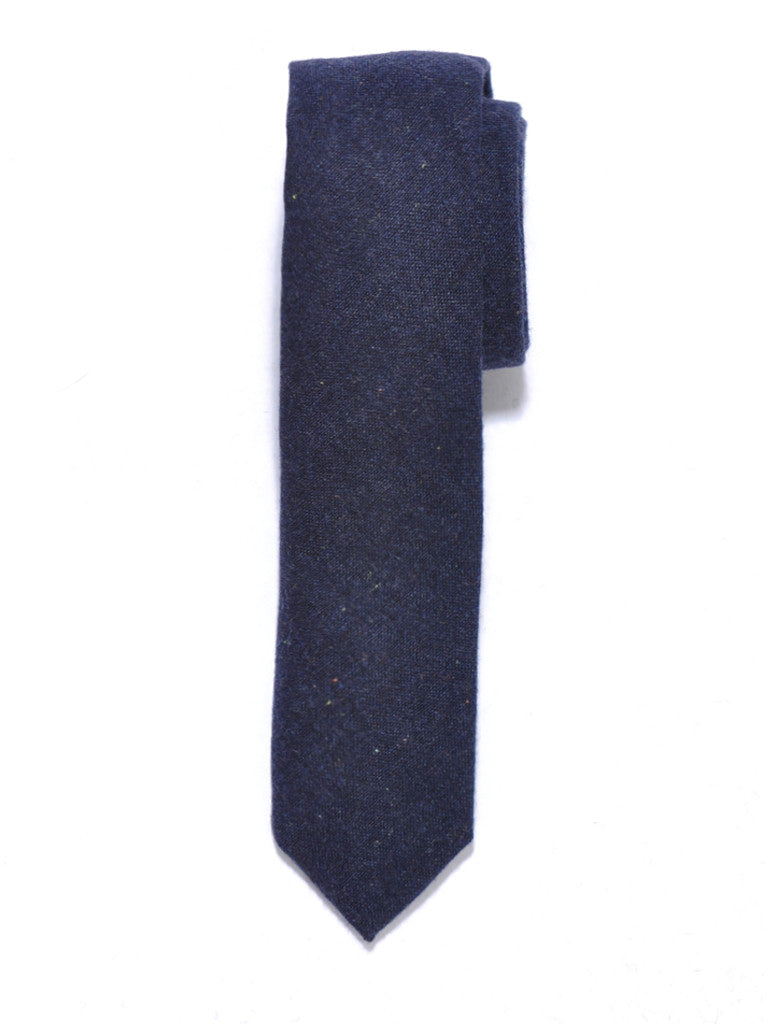 Navy Blue Speckled Wool Tie