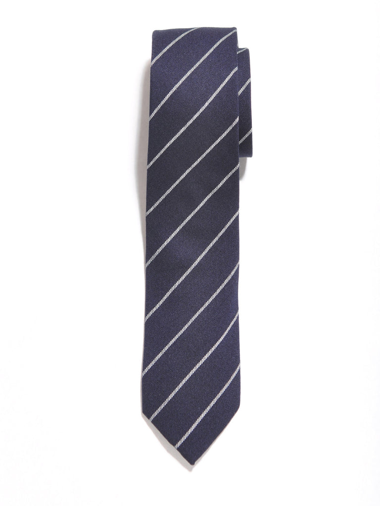 Navy Blue Stripe Cotton Tie