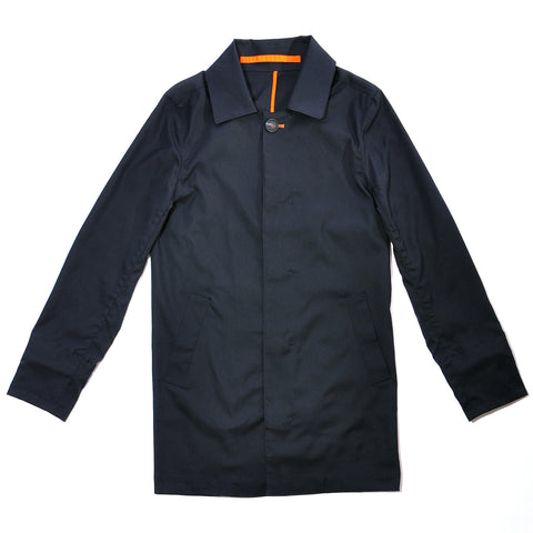 Navy Blue Water Resistant Trench Coat
