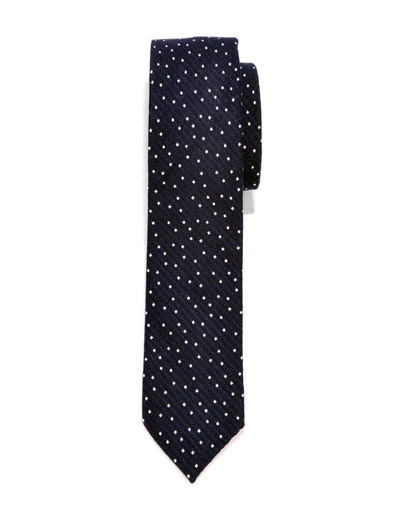Navy Dot Cotton Tie