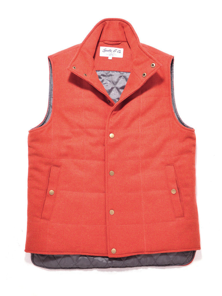 Orange Wool Bodywarmer Vest