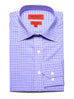Purple Cross Check Dress Shirt