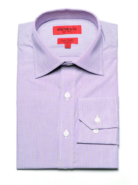 Slim Fit Purple Microstripe Dress Shirt