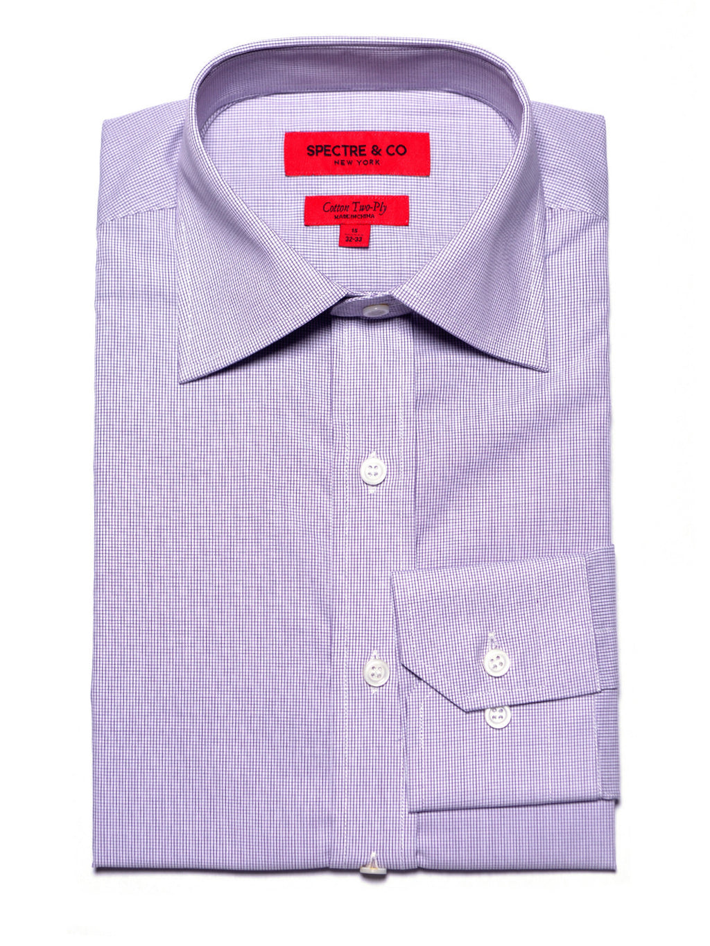 Purple Microcheck Dress Shirt
