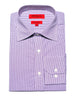 Slim Fit Purple Mini-Check Dress Shirt