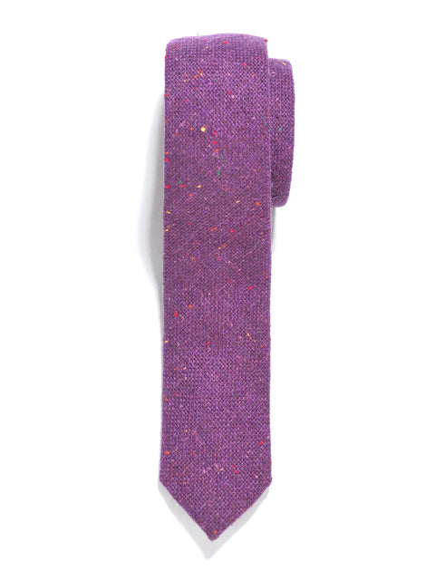 Purple Rainbow Tweed Wool Tie