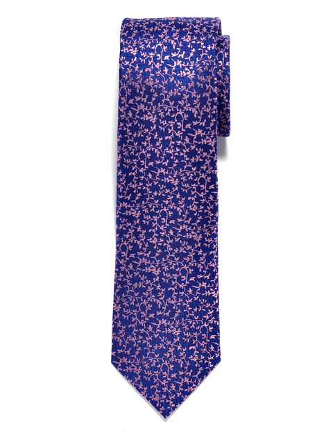 Purple Vineyard Floral Silk Tie