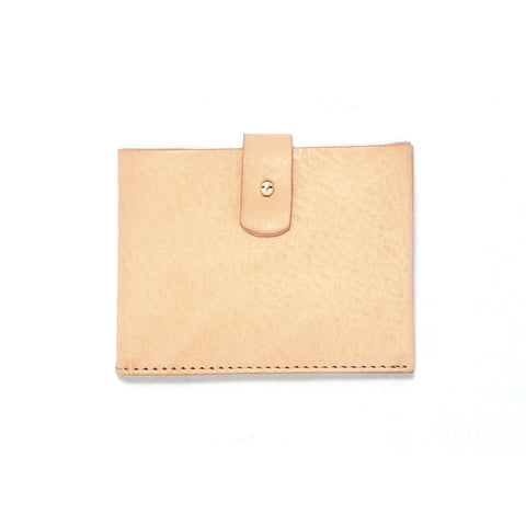 Raw Italian Leather Clasp Wallet