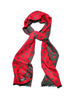 Red Dot Brushed Silk Scarf