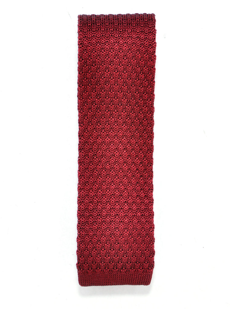 Slim Handmade Red Silk Knit Tie