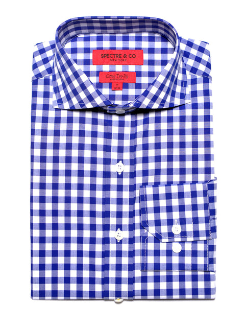 Royal Gingham Dress Shirt
