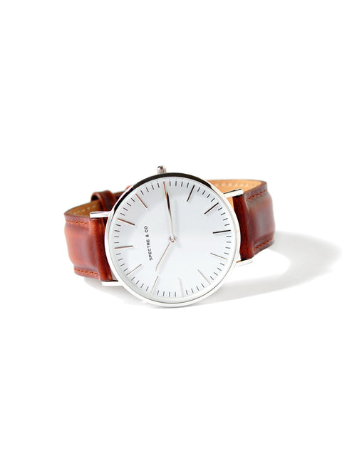 S10 Brown Classic Round Face Watch