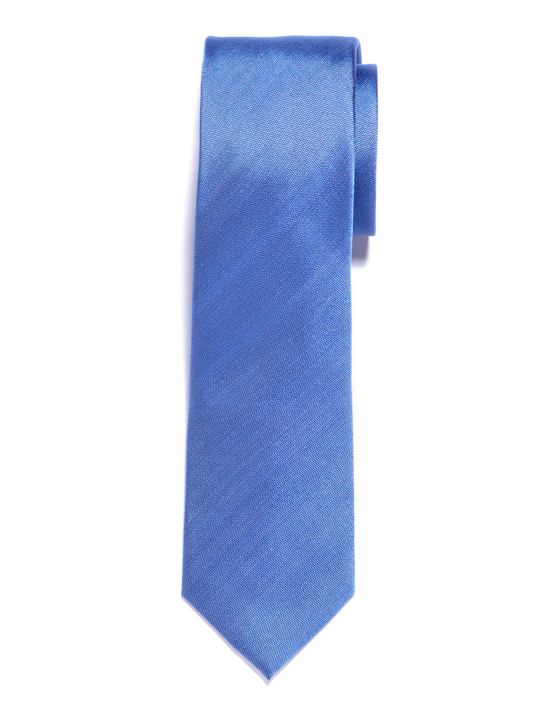 Solid Light Blue Silk Tie
