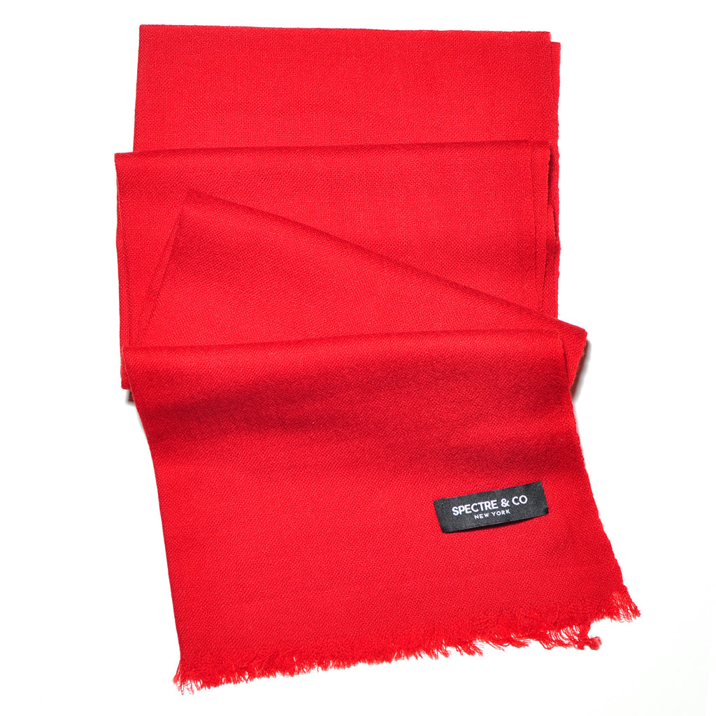 Solid Red Lambswool Scarf