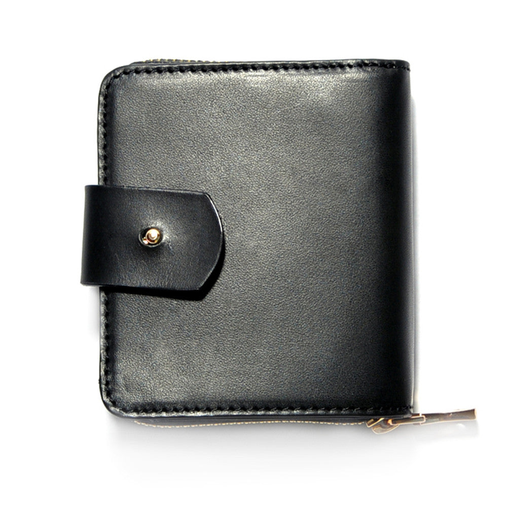 Black Italian Leather Travel Wallet