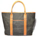 Raw Waxed Canvas Leather Tote Bag