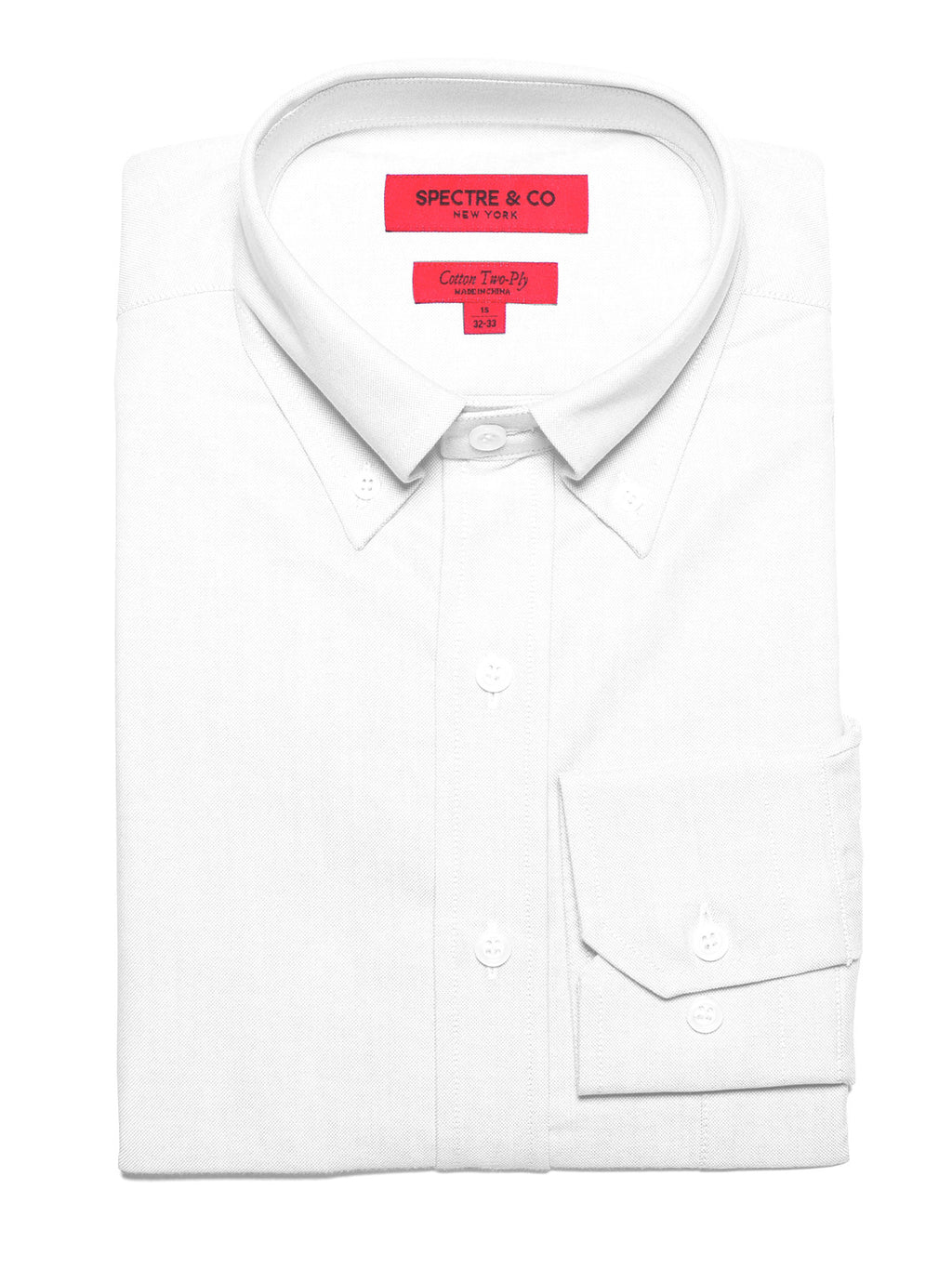 Washed White Oxford Button-Down Dress Shirt