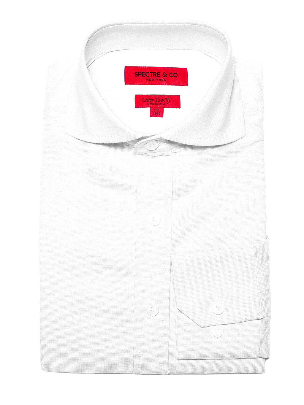 Slim Fit Washed White Oxford Cutaway Dress Shirt