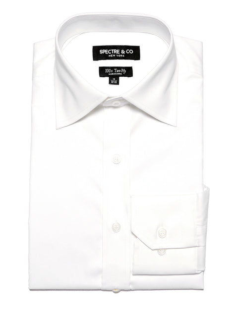 Slim Fit White Oxford Dress Shirt