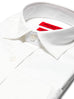 Slim Fit White Semi-spread Dress Shirt