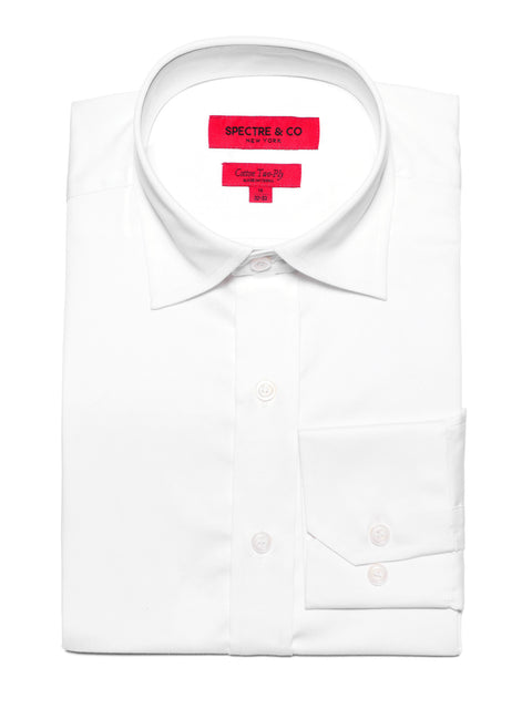 White Semi-Spread Dress Shirt