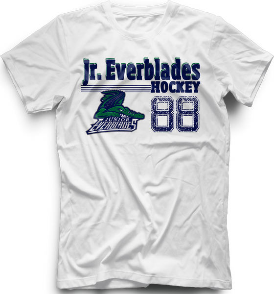 Jr. Everblades Old Time T-shirt with Player Number