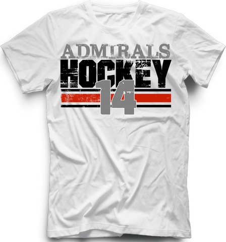Admirals Boarded T-shirt with Player Number