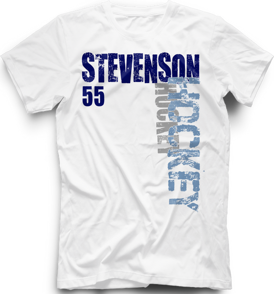 Livonia Stevenson Spartans Hockey T-Shirt w/ Player Number