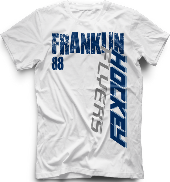 Franklin Flyers Slashed T-shirt with Player Number