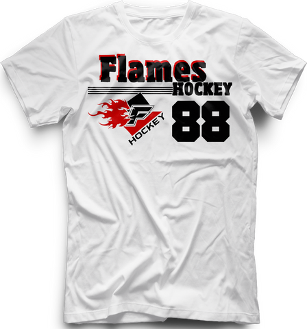 Gulf Coast Flames Old Time T-shirt with Player Number