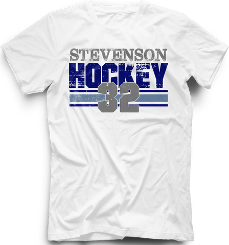 Livonia Stevenson Hockey Boarded T-Shirt w/ Player Number