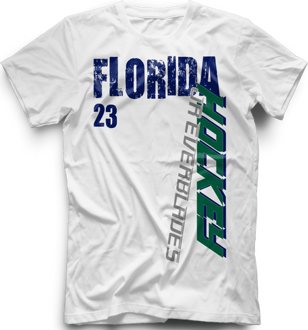 Jr. Everblades Slashed Hockey T-shirt with Player Number