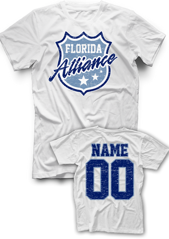 Florida Alliance Distressed Name & Number Tee