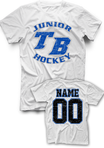 Tampa Bay Juniors Distressed Name & Number Tee