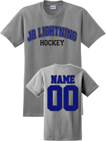 Jr. Lightning Hockey Name & Number Tee