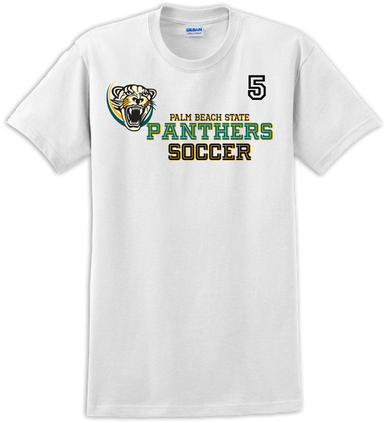 Palm Beach Panthers Soccer Logo T-shirt with Player Number