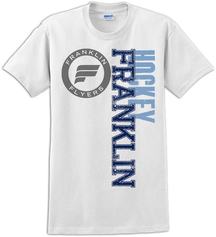 Franklin Flyers Faded Logo T-Shirt with Player Number